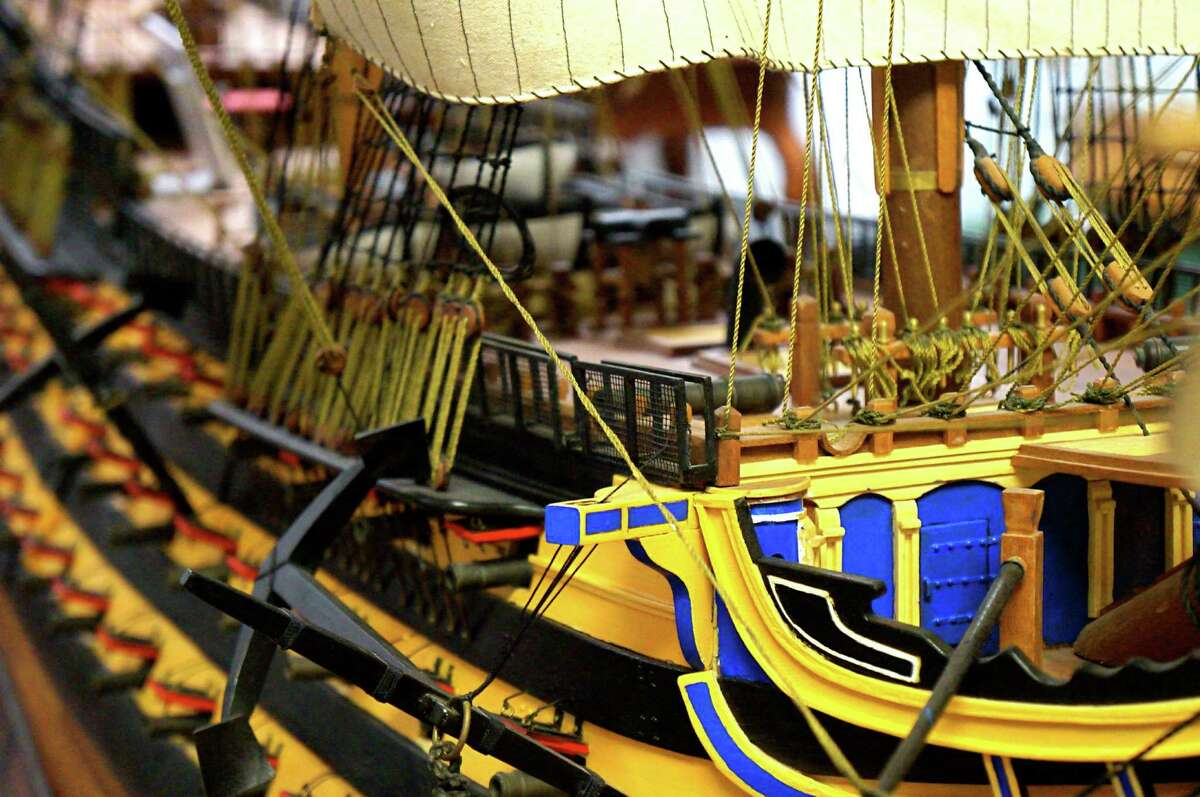 Detail of a miniature in the Houston Maritime Museum.