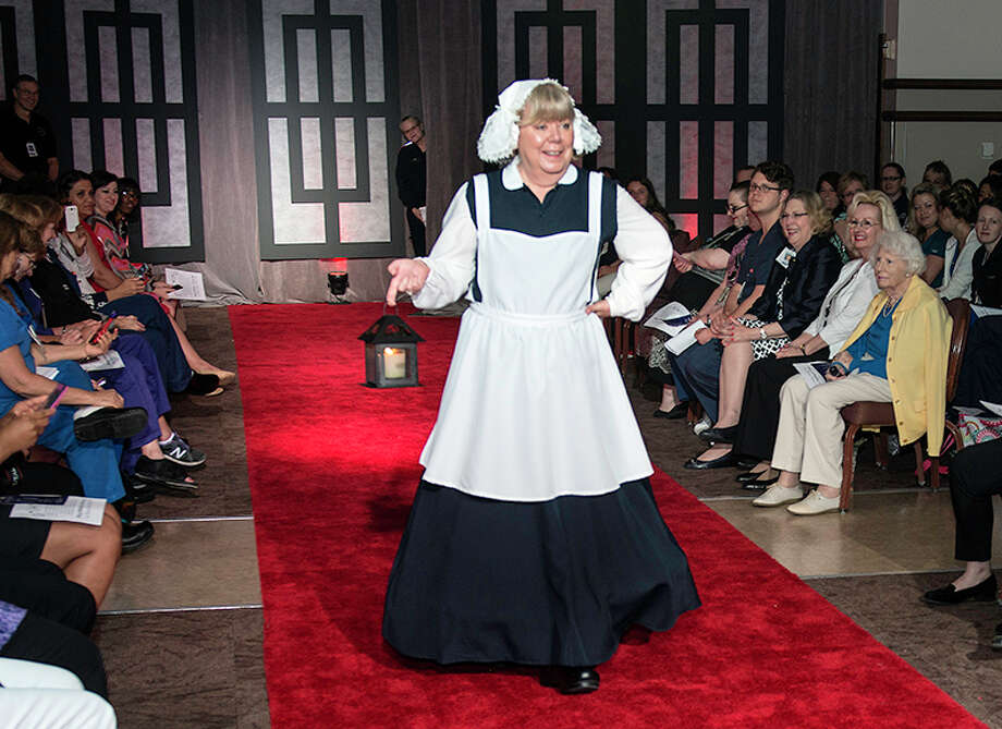 Victoria King, Chief Nursing Officer of Memorial Hermann-TMC dressed as Florence Nightingale.