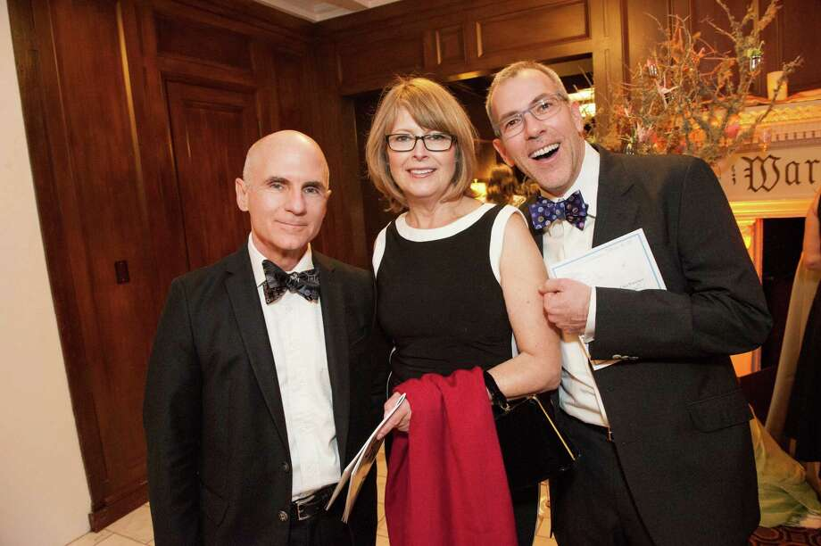 Roger Black, Bonnie McFarland and Carl Mazer at the Raphael House One Upon a Time Gala on May 2, 2014. Photo: Drew Altizer Photography/SFWIRE, Drew Altizer Photography / ©2014 by Drew Altizer, all rights reserved