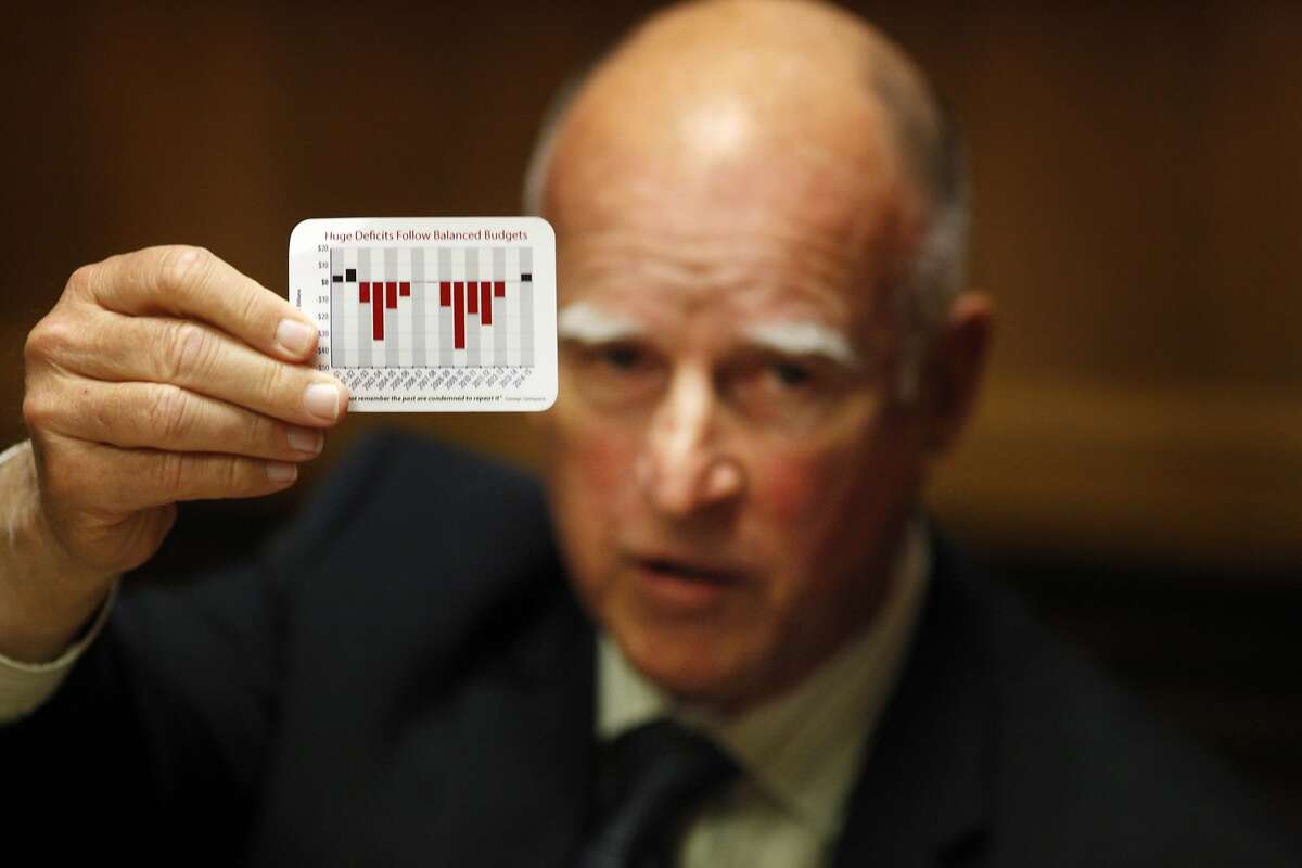 Governor Jerry Brown talks with the editorial board about running for his fourth term, Friday May 16, 2014, in San Francisco, Calif.