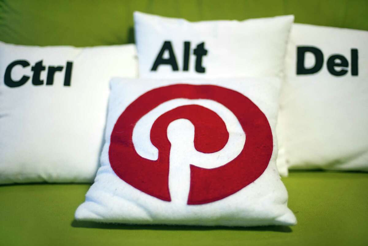 Decorative pillows set the scene at a Pinterest media event at the company's corporate headquarters office in San Francisco, California on April 24, 2014. Pinterest launched a tool to help people quickly sift through the roughly 30 billion 'Pins' on the service's online bulletin boards to find what they like. AFP PHOTO / JOSH EDELSONJosh Edelson/AFP/Getty Images