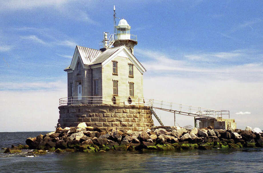 The lighthouse at Stratford Shoal, in the middle of Long Island Sound off of the coast of Stratford. It is also callled Middle Ground Light. Photo: Contributed Photo, Contributed Photo / Connecticut Post Contributed