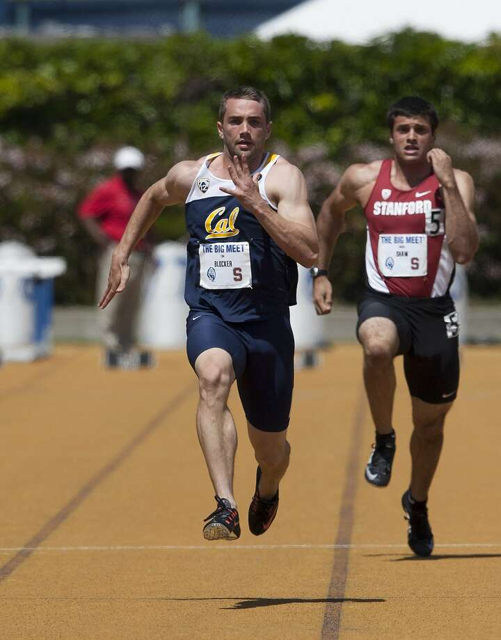 Tom Blocker, the Bears' top sprinter who is No. 4 in the Pac-12 this season with a 10.34 100-meter time, graduates this month. Photo: Golden Bear Sports