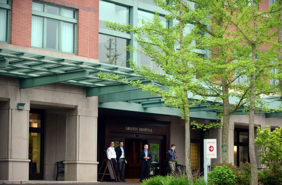 Griffin Hospital in Derby, Conn. Friday, May 16, 2014, where more than 3000 patients are being advised to have their blood tested after the improper use of insulin pens.