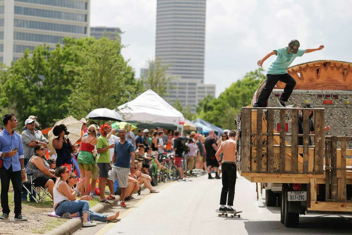 Scenes from the 27th annual Art Car Parade, May 10, 2014 in Houston. (Eric Kayne/For the Chronicle)