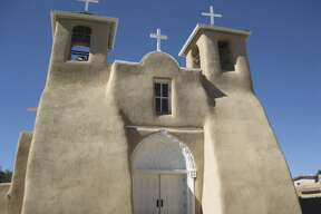 The San Francisco de Assisi Mission Church in Rancho de Taos, New Mexico, was completed in 1816.