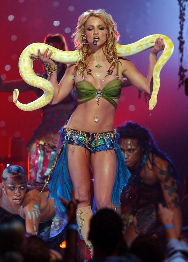 Britney Spears performs at the MTV VMAs. (Photo by Kevin Kane/WireImage) Photo: Kevin Kane