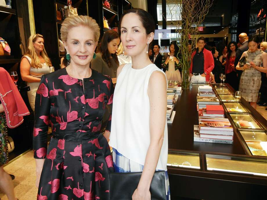 Designer Carolina Herrera (left) with her daughter Patricia Lansing at the new CH Carolina Herrera boutique on Grant Avenue. Photo: Catherine Bigelow, Special To The Chronicle