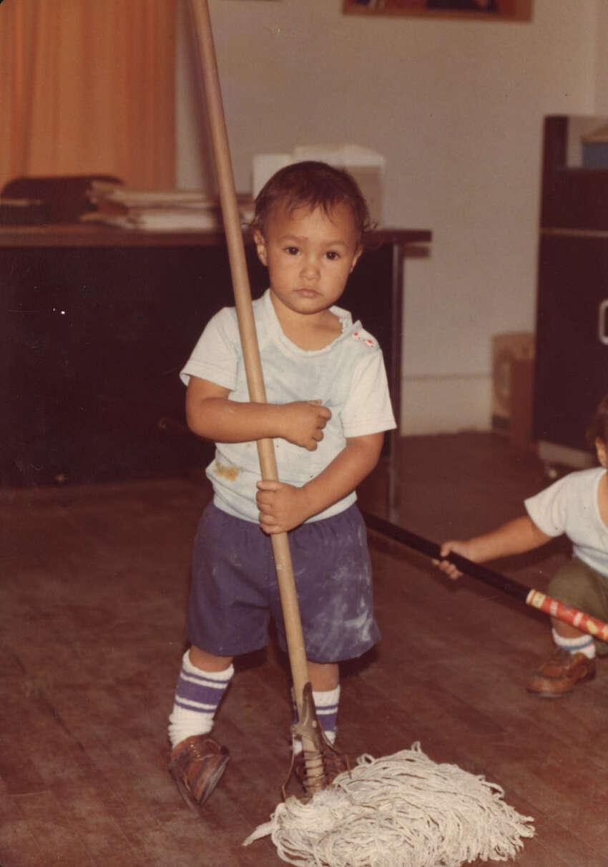 Future San Antonio Mayor Julián Castro is seen as a boy in this undated photo.