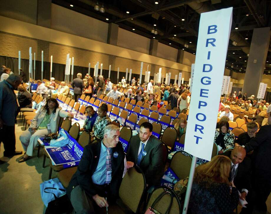 The Bridgeport delegation's section is littered with empty chairs during the Connecticut Democratic Convention in Hartford, Conn., on Friday, May 16, 2014. Photo: Lindsay Perry / Stamford Advocate