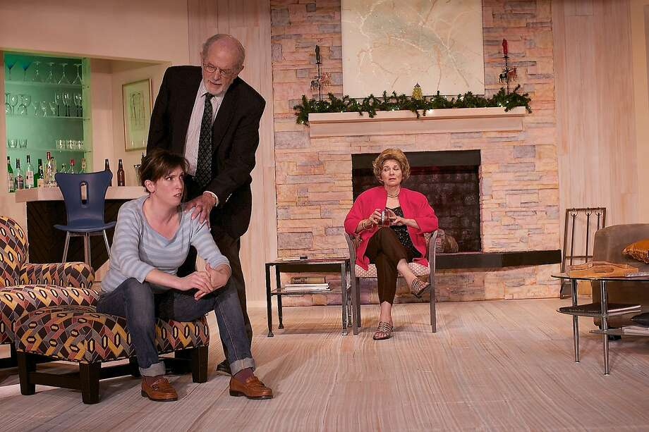 "Jennifer Gregory, left, as writer Brooke Wyeth, at odds with her parents Lyman (Dick Martin) and Polly (Ellen Brooks) in ""Other Desert Cities"" at Ross Valley Players Photo: Robin Jackson"