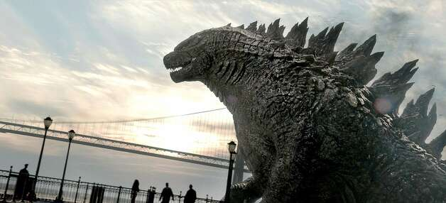 """This film image released by Warner Bros. Pictures shows a scene from """"Godzilla."""" (AP Photo/Warner Bros. Pictures) Photo: Associated Press"""