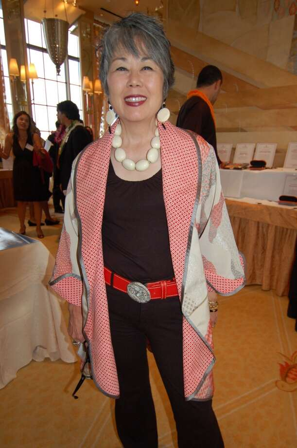 Carole Hayashino in a jacket by Honolulu designer Anne Namba. Photo: Jeanne Cooper, SFGate