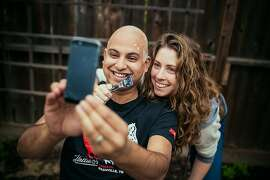 Adriana Anavitarte and Rohin Das married in September 2013 in Gualala. He was diagnosed with cancer in February 2014, and before starting chemotherapy, the couple invited their wedding photographers over to document Adriana shaving his hair off -- before it fell off because of the chemo.