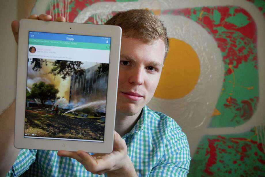 Adam Cooper's Pixifly allows users to search public Instagram photos by time and location. Photo: Brett Coomer, Staff / © 2014 Houston Chronicle