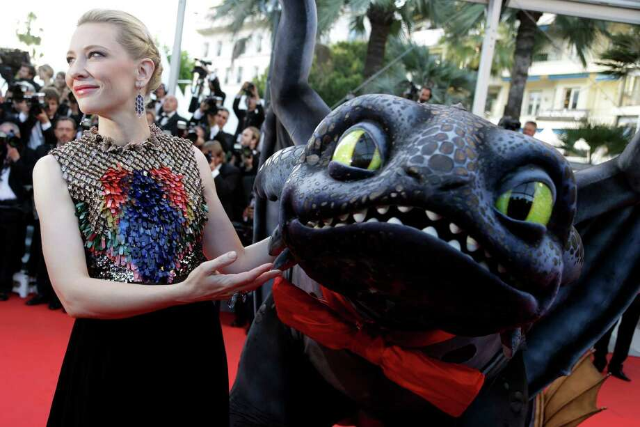 Cate Blanchett - Training dragons calls for fabulous battle armor.  Photo: Thibault Camus, AP / AP