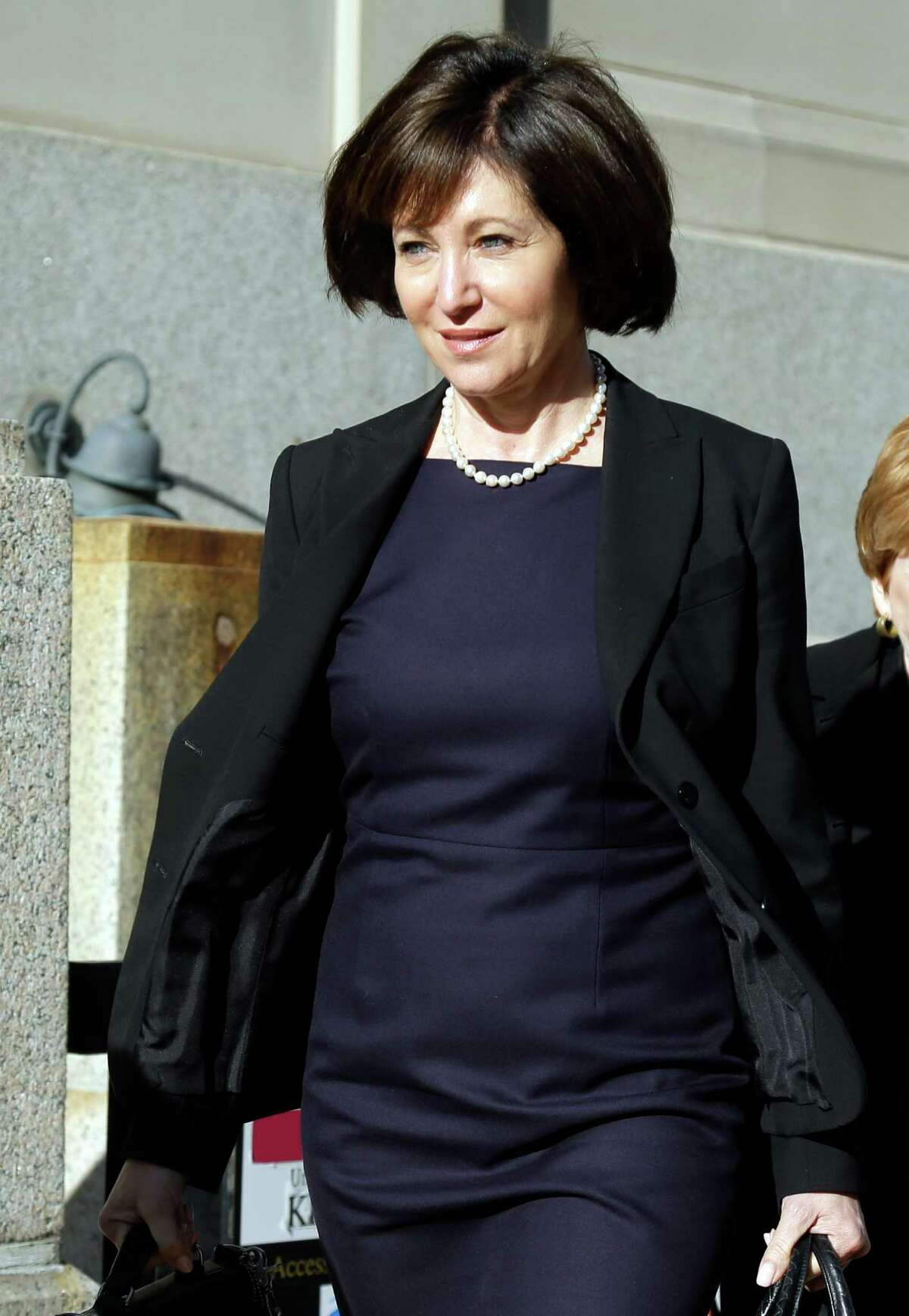 Francine Katz leaves court earlier this month in St. Louis.