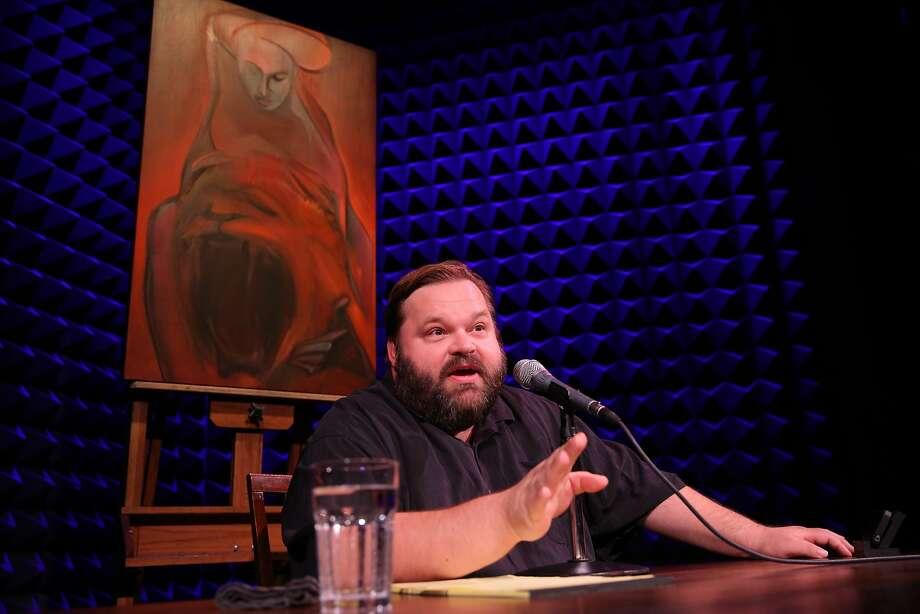 "Mike Daisey performs ""American Utopias,"" which combines his stories and secondhand accounts. Photo: Joan Marcus"