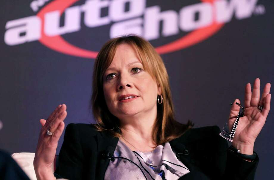 Mary Barra, CEO of General Motors, speaks at the 2014 Automotive Forum, Tuesday, April 15, 2014 in New York. The forum is sponsored by the National Automobile Dealers Association (NADA) and J.D. Power.(AP Photo/Mark Lennihan) Photo: Mark Lennihan, STF / AP