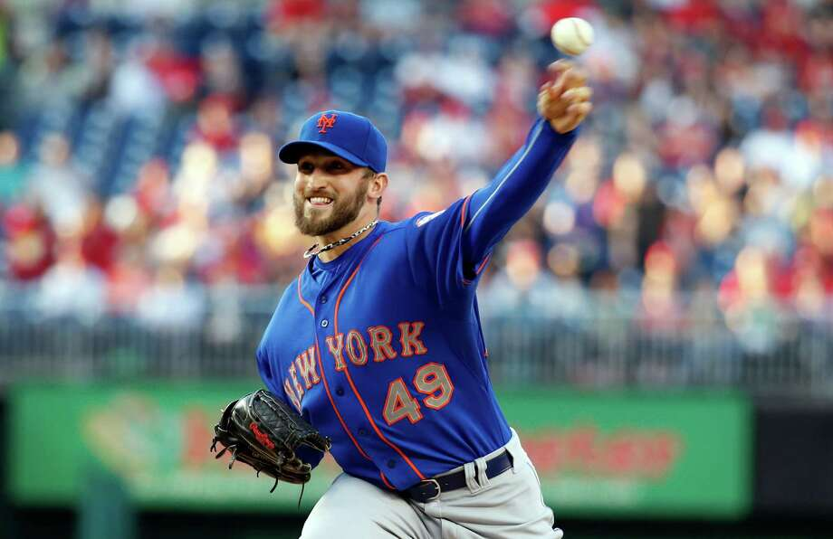 New York Mets starting pitcher Jonathon Niese throws during the first inning of a baseball game against the Washington Nationals at Nationals Park Friday, May 16, 2014, in Washington. (AP Photo/Alex Brandon) ORG XMIT: NAT107 Photo: Alex Brandon / AP