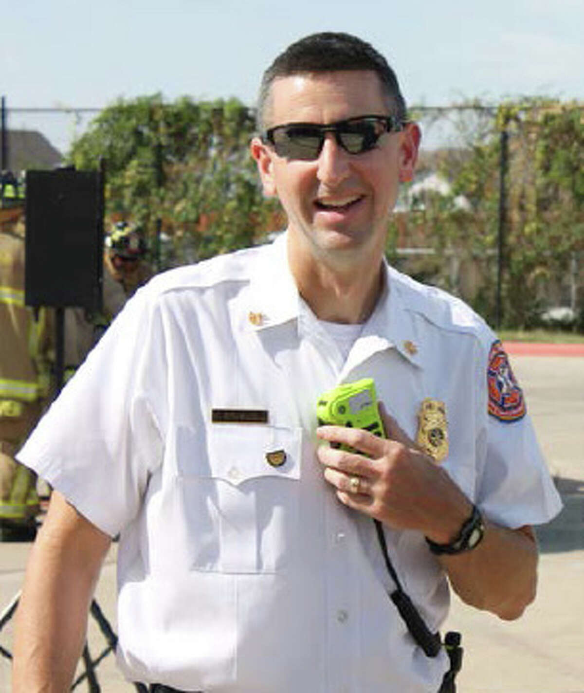 Assistant Cy-Fair Volunteer Fire Department chief W. Mark Braswell