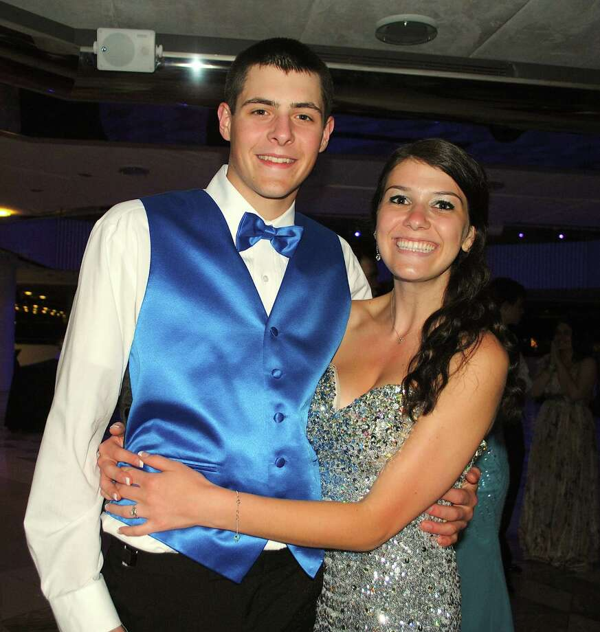 "Newtown High School seniors celebrated a ""starry night"" during their prom held at the Matrix Center in Danbury. Were you SEEN? Photo: Wendy Mitchell"