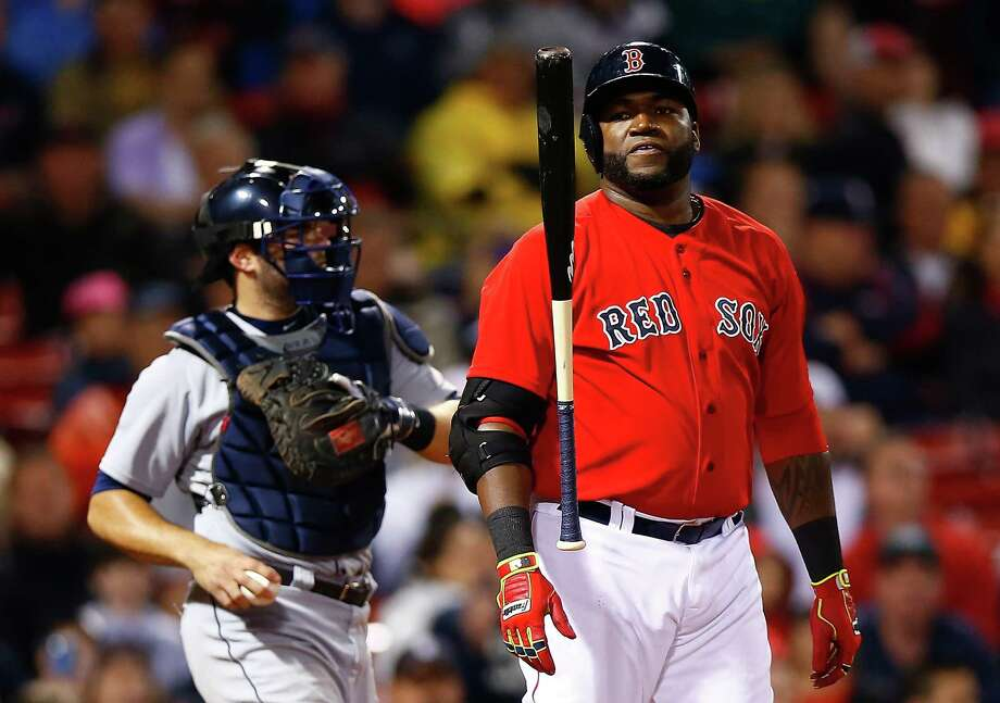BOSTON, MA - MAY 16: David Ortiz #34 of the Boston Red Sox reacts after striking out in the 9th inning against the Detroit Tigers during the game at Fenway Park on May 16, 2014 in Boston, Massachusetts.  (Photo by Jared Wickerham/Getty Images) ORG XMIT: 477583279 Photo: Jared Wickerham / 2014 Getty Images