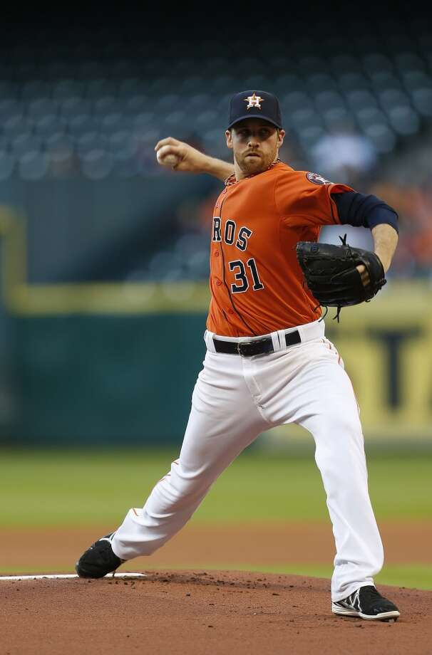 May 16: White Sox 7, Astros 2Astros starting pitcher Collin McHugh pitches in the first inning. Photo: Karen Warren, Houston Chronicle