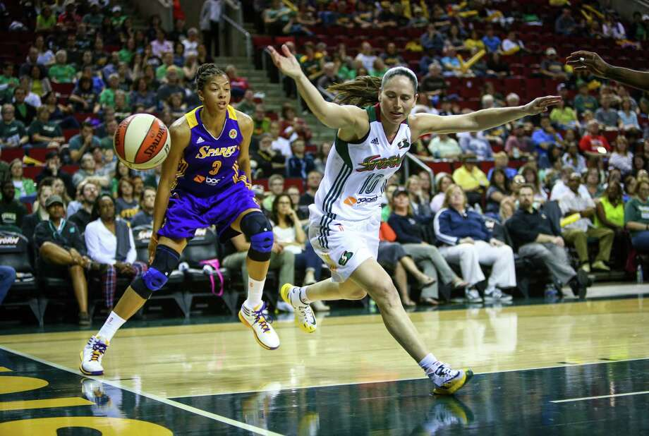 Sue Bird loses control of the ball during the Seattle Storm season opener on Friday, May 16, 2014 at KeyArena in Seattle. Photo: JOSHUA TRUJILLO, SEATTLEPI.COM / SEATTLEPI.COM