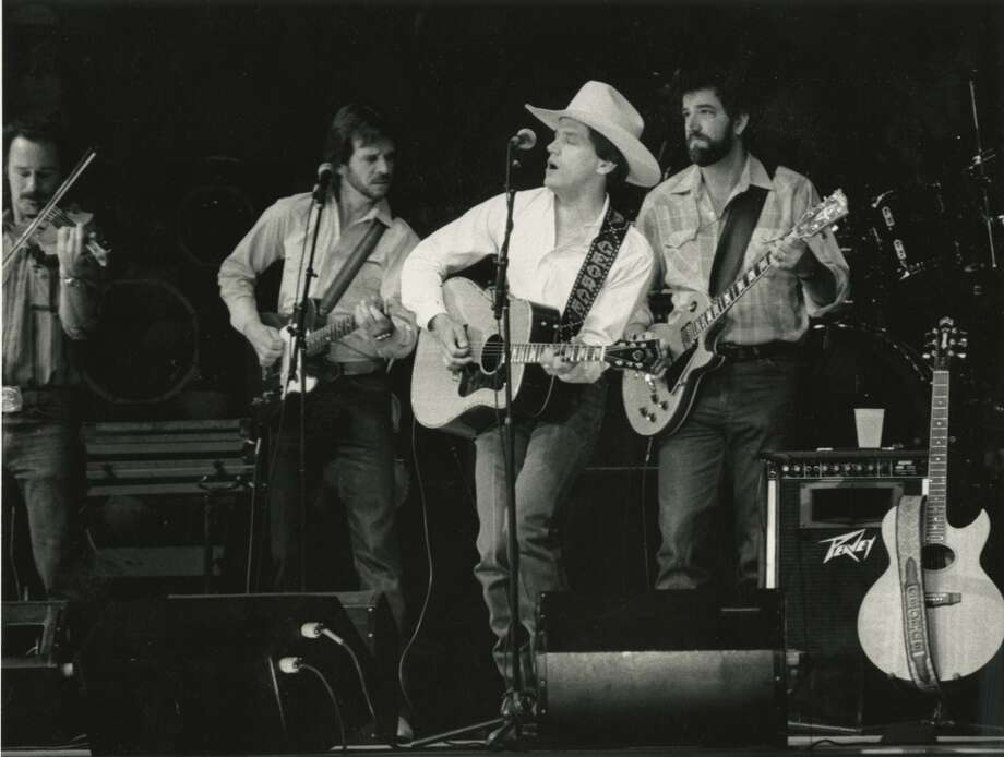 2/25/1987 - singer George Strait performs at the Houston Livestock Show & Rodeo in the Houston Astrodome. Photo: Paul Vincent Kuntz, © Houston Chronicle