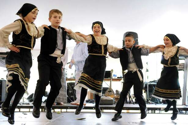 Dancers, ages 8- to 9-years-old, perform a traditional Greek dance during the St. Sophia 2014 Greek Festival on Saturday, May 17, 2014, at St. Sophia Greek Orthodox Church in Albany, N.Y. The festival, which features Greek food, music and dancing, continues Sunday from noon to 7 p.m. (Cindy Schultz / Times Union)