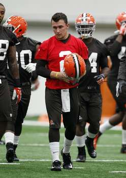 BEREA, OH - MAY 17:  Cleveland Browns draft pick Johnny Manziel #2  walks on the practice field during the Cleveland Browns rookie minicamp on May 17, 2014 at the Browns training  facility in Berea, Ohio.  (Photo by David Maxwell/Getty Images) Photo: David Maxwell, Getty Images