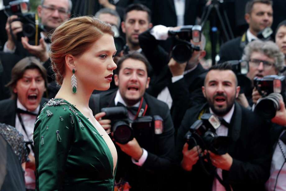 Actress Lea Seydoux arrives for the screening of Saint-Laurent at the 67th international film festival, Cannes, southern France, Saturday, May 17, 2014. Photo: Thibault Camus, AP / AP