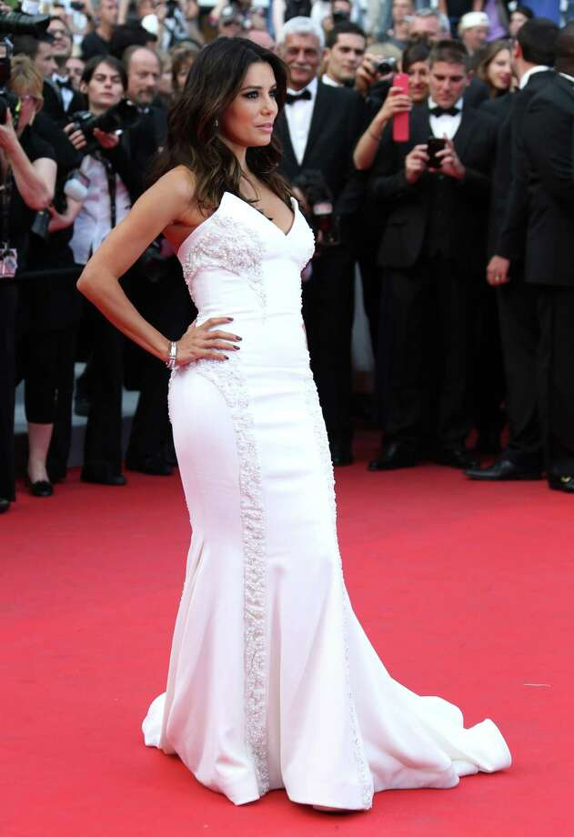 Eva Longoria arrives for the screening of Saint-Laurent at the 67th international film festival, Cannes, southern France, Saturday, May 17, 2014. Photo: Joel Ryan, Joel Ryan/Invision/AP / Invision