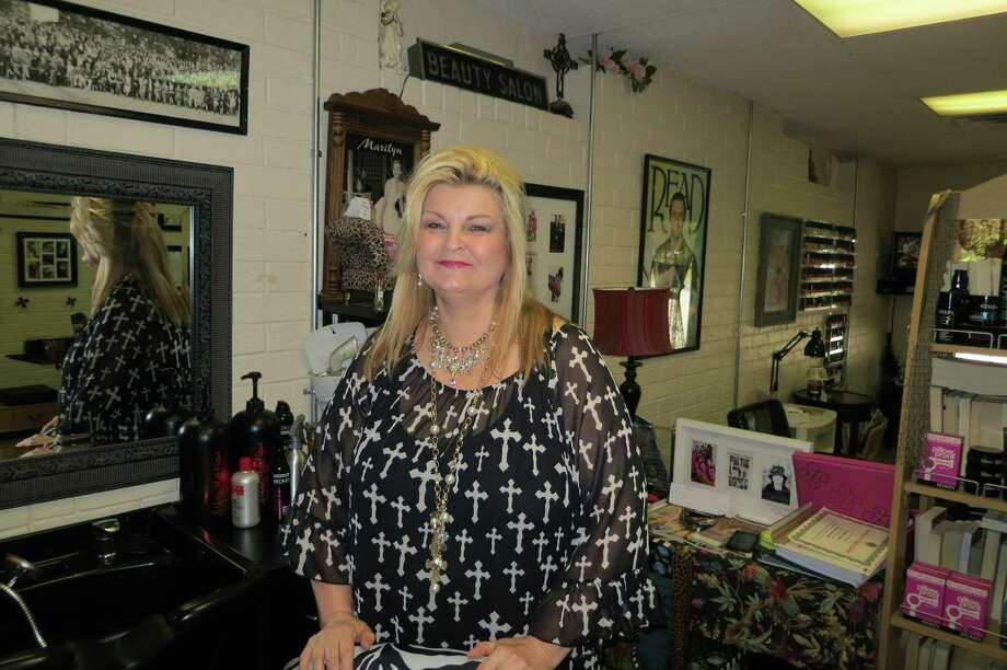 Kathy Murphy's Beauty and the Book - in Hawkins, a little town north of Tyler in northeast Texas - may be the only combination beauty salon/bookstore/book club headquarters in the entire country. Photo: Joe Holley, Staff / © 2013 Houston Chronicle