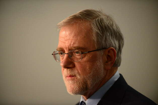 Howie Hawkins, the Green Party candidate for governor, attends a news conference Wednesday, April 9, 2014, at the Legislative Office Building in Albany, N.Y. He is the party's choice to run for governor in November after the convention met in in Troy on May 17. (Will Waldron/Times Union)