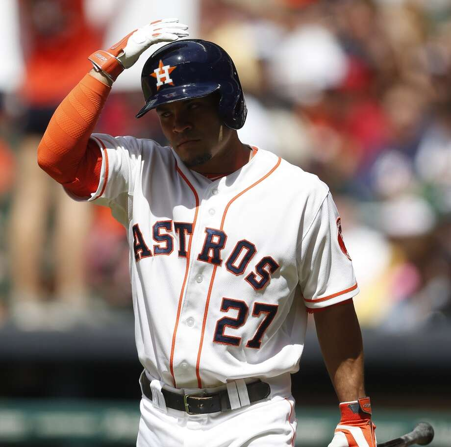 Astros second baseman Jose Altuve comes up to bat. Photo: Karen Warren, Houston Chronicle