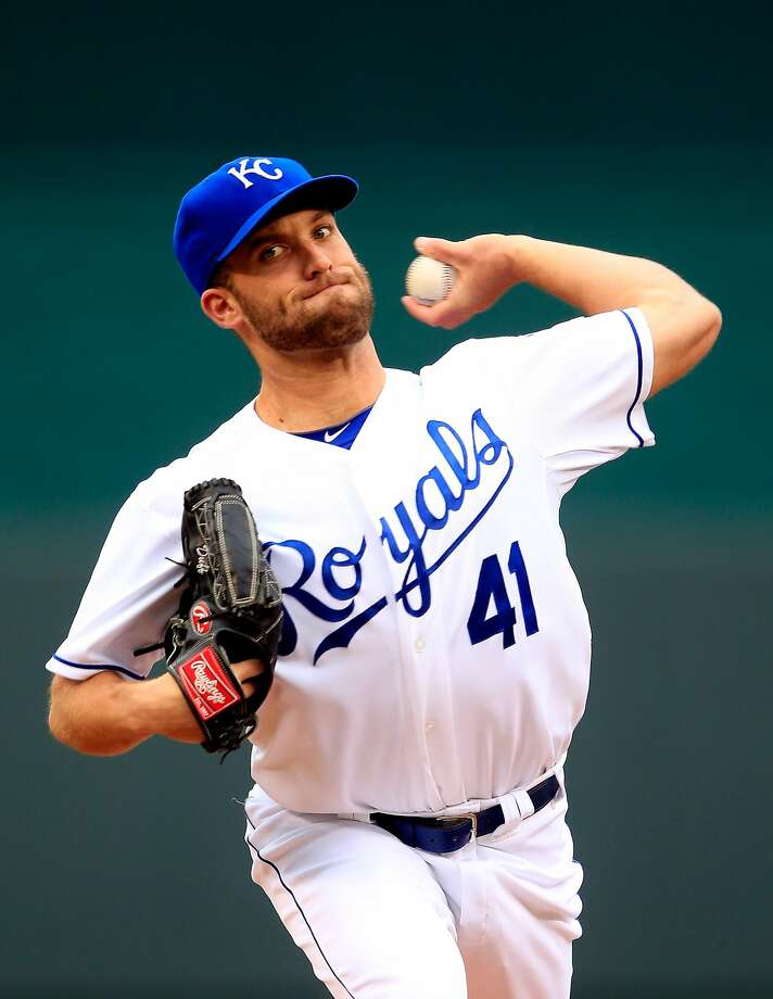 Kansas City's Danny Duffy retired the first 20 batters before the Orioles' Adam Jones singled in the seventh. Photo: Jamie Squire, Getty Images