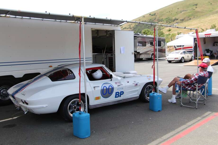 Dan Payne of Petaluma, Calif., with his 1963 Chevrolet Corvette split-window coupe.
