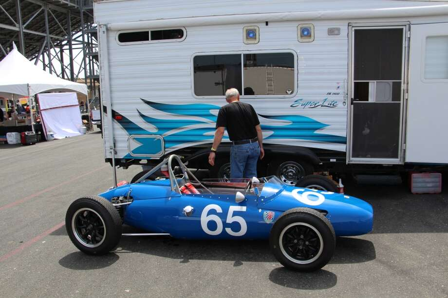 A 1960 Kieft Formula Jr., with its owner, Marc Nichols, Grass Valley, Calif.
