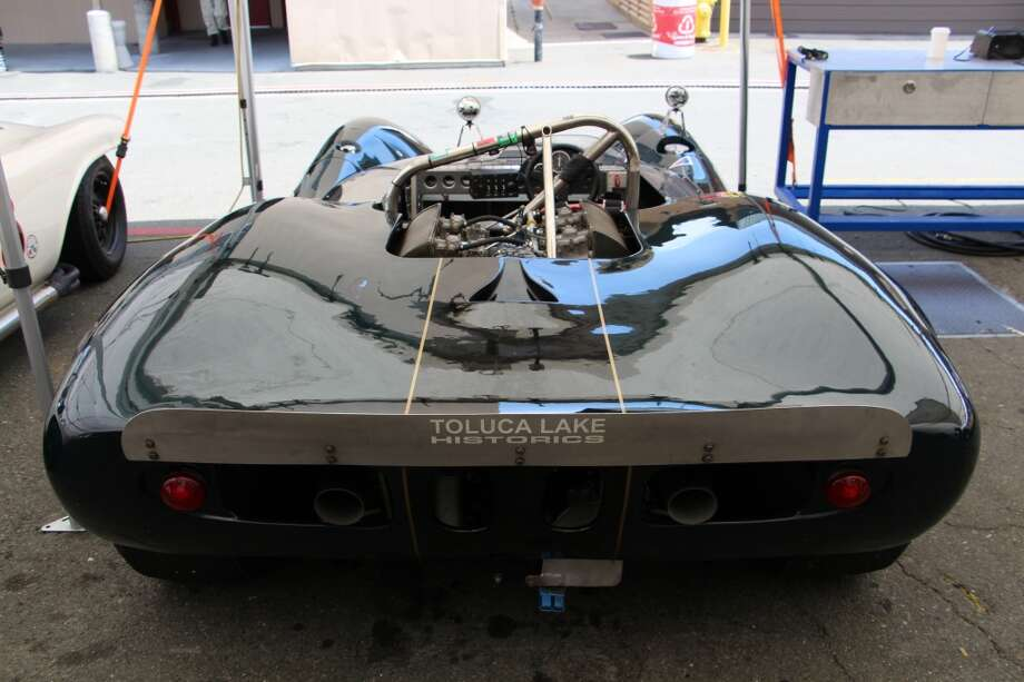 The same Lola T-70, viewed from the vantage point of the second-place car.