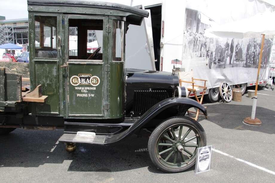 A 1924 Ford Model H race car hauler.