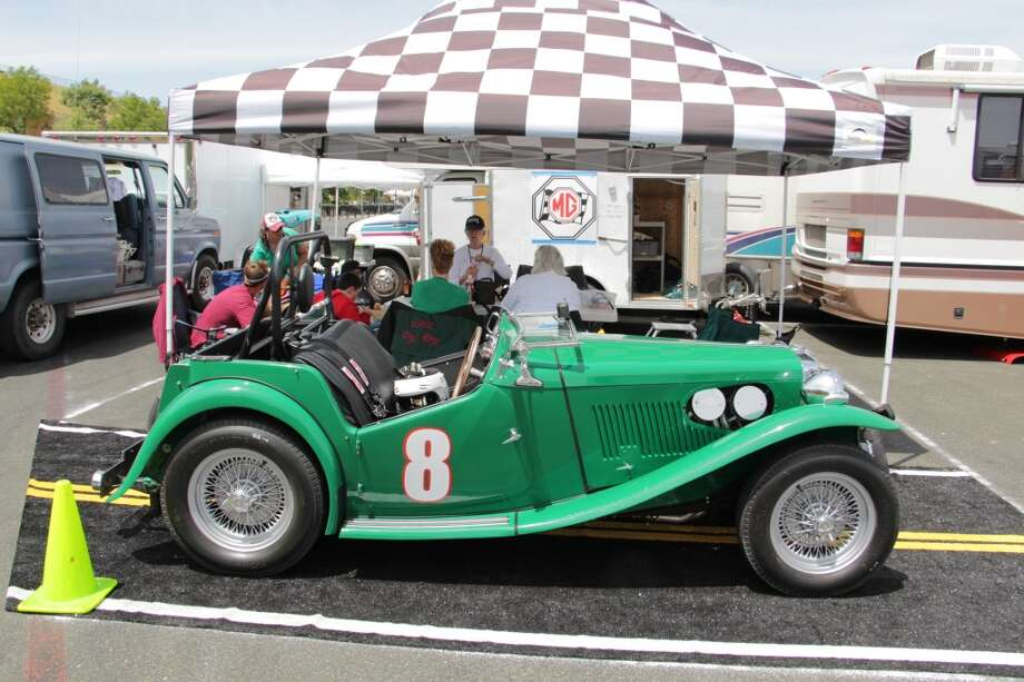 A 1949 MG TC, owned by Jim and Lori Buell of Blanchard, Idaho.