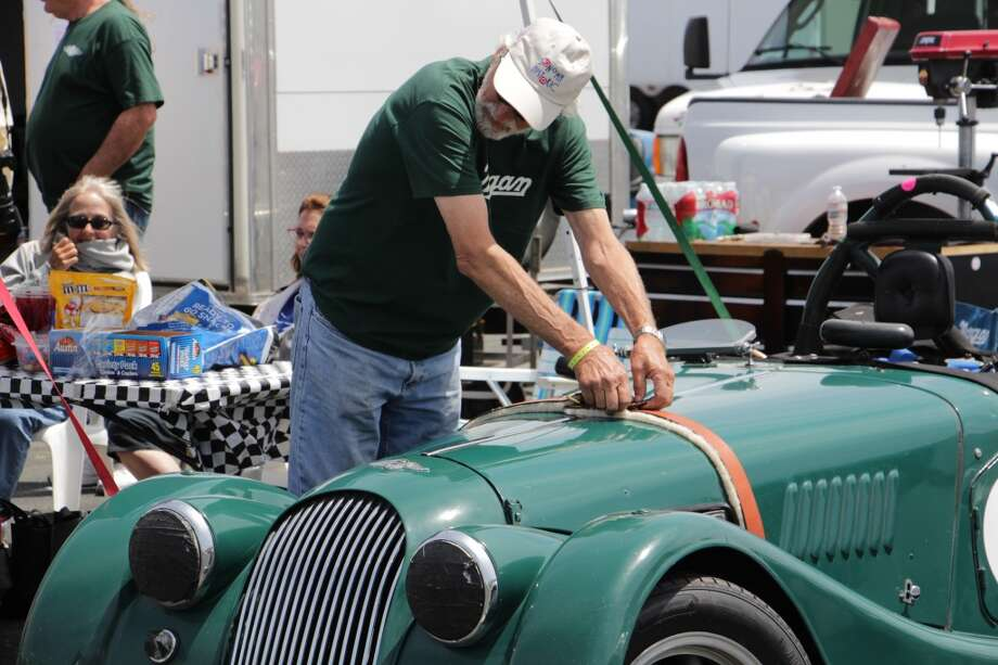 Ron Carrico with his 1964 Morgan 4/4 Series 5 Competition.