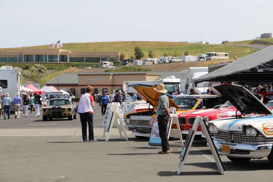 The paddock at Sonoma Raceway.