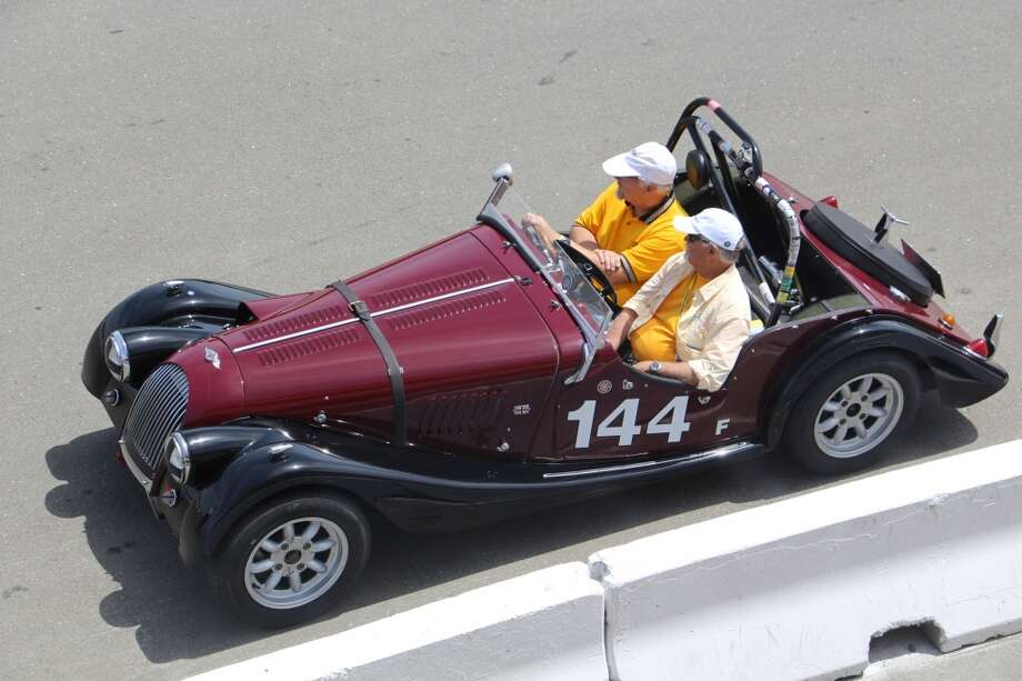 A 1964 Morgan 4/4, entered by Mark Pladson of Bloomington, Minn.