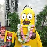 Joshua Rodriguez, who won the costume contest last year, is hoping to repeat this year as Lego Homer.