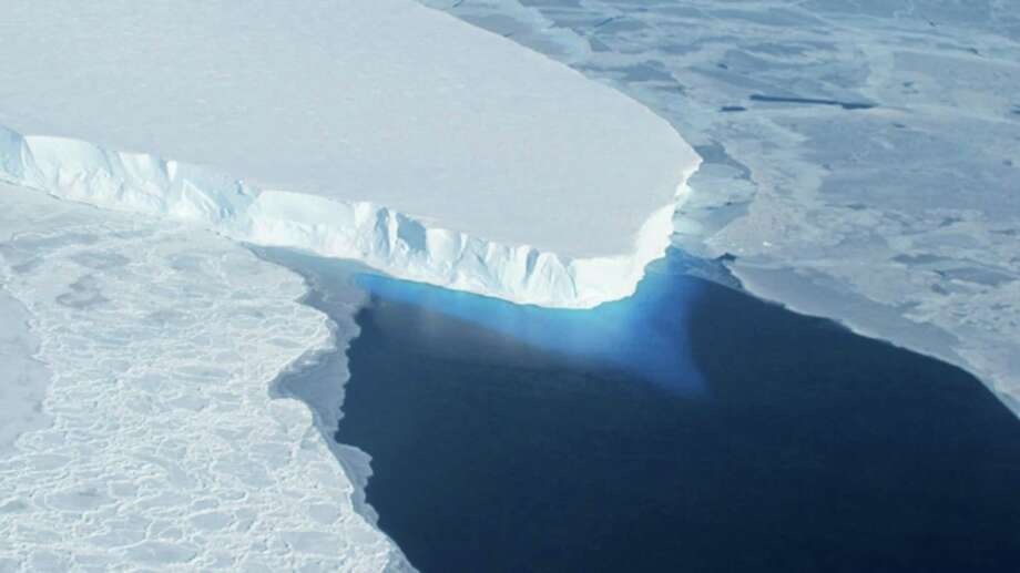 This undated handout photo provided by NASA shows the Thwaites Glacier in West Antarctic. Two new studies indicate that part of the huge West Antarctic ice sheet is starting a slow collapse in an unstoppable way. Alarmed scientists say that means even more sea level rise than they figured. Photo: Uncredited, AP  / AP2014