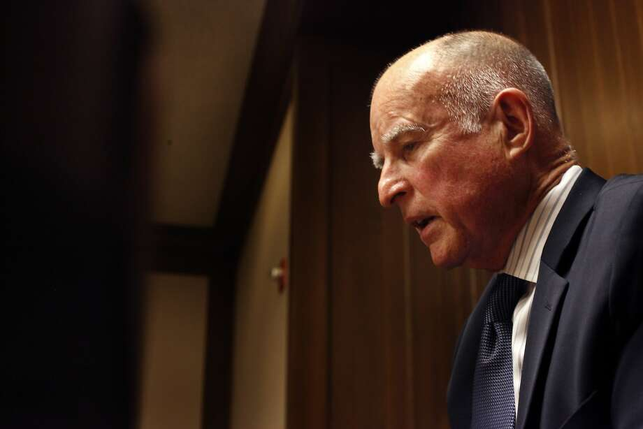 Governor Jerry Brown talks with the editorial board about running for his fourth term, Friday May 16, 2014, in San Francisco, Calif. Photo: Lacy Atkins, SFC