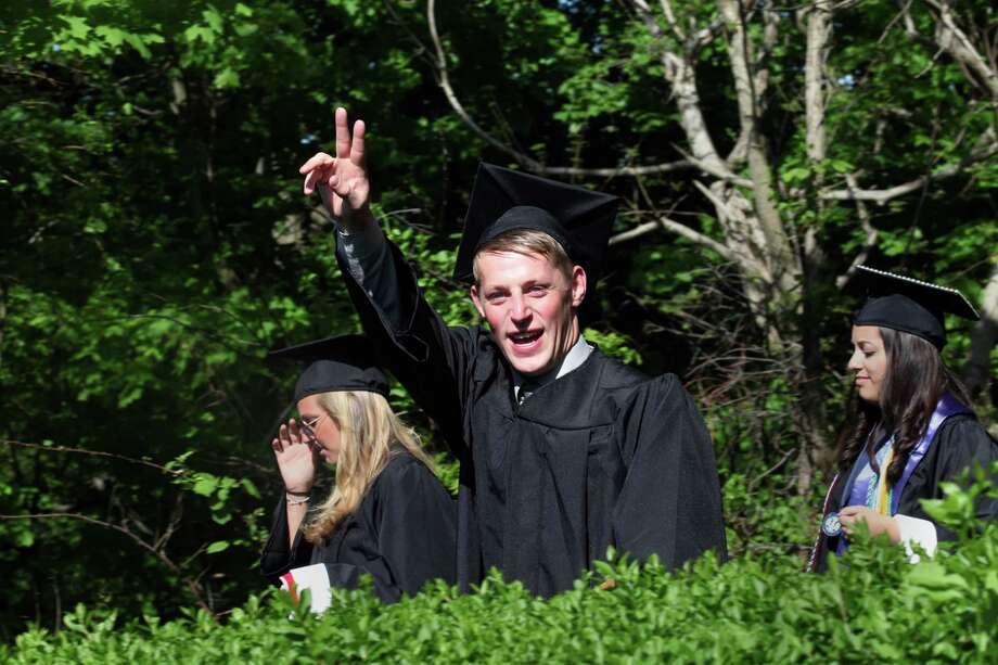 Graduate John Clements enters Fairfield University's sixty fourth commencement exercises on Sunday, May 18, 2014. Photo: BK Angeletti, B.K. Angeletti / Connecticut Post freelance B.K. Angeletti